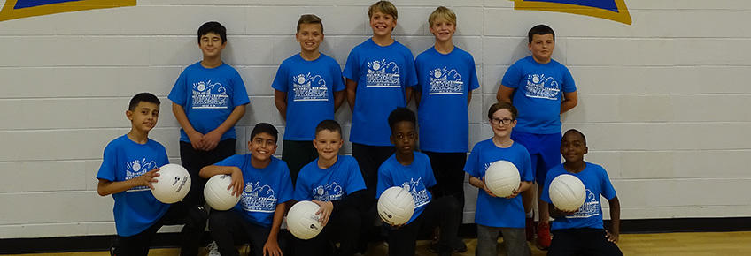 photo of boys' volleyball team