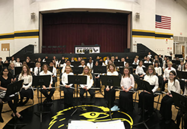 Beginning Band Performs First Concert of the New Year