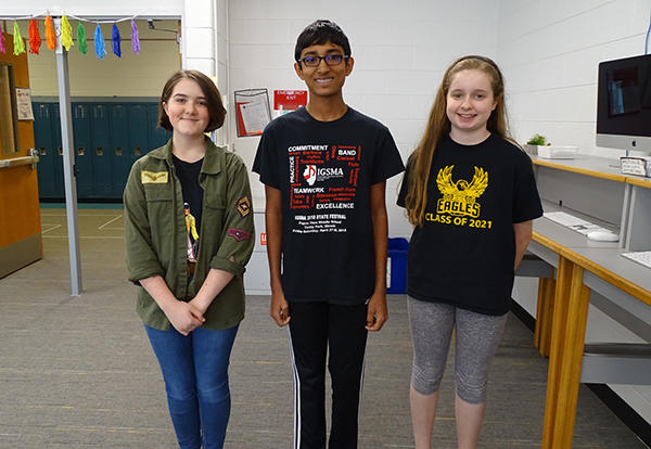 three spelling bee winners