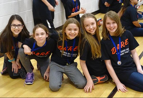 Millennium Fifth Graders Complete DARE Program