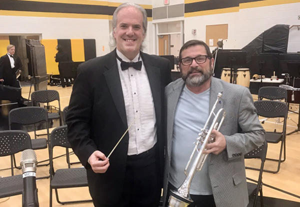 band director and guest performer