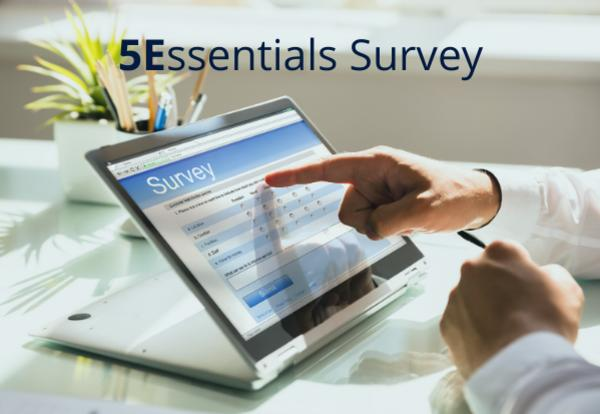 iPad with survey displayed on screen
