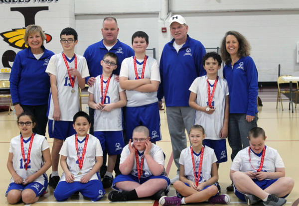 basketball team and coaches