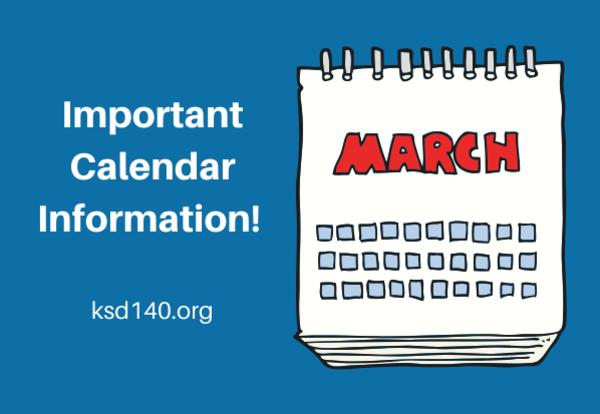 march important calendar information graphic
