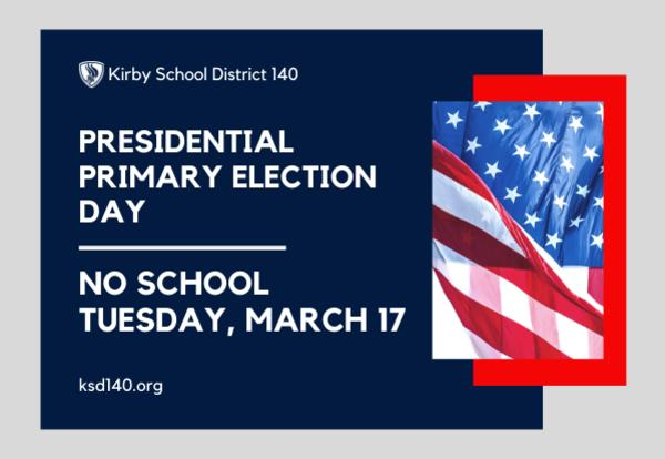 presidential primary election day graphic