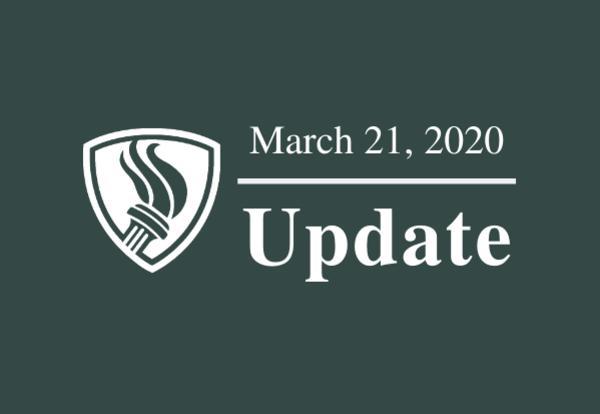March 21, 2020 Update