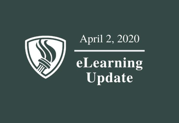 April 2, 2020 eLearning Update graphic