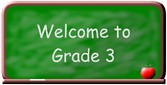 Welcome to grade 3 logo