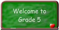Welcome to grade 5 logo