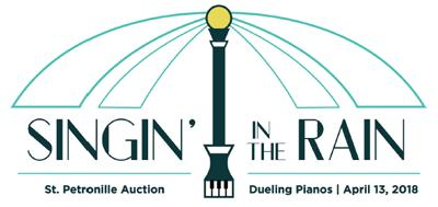 Logo for St. Petronille Auction Singin' in the Rain