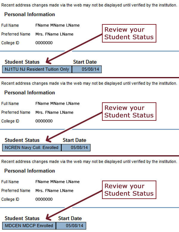 Review Student Status