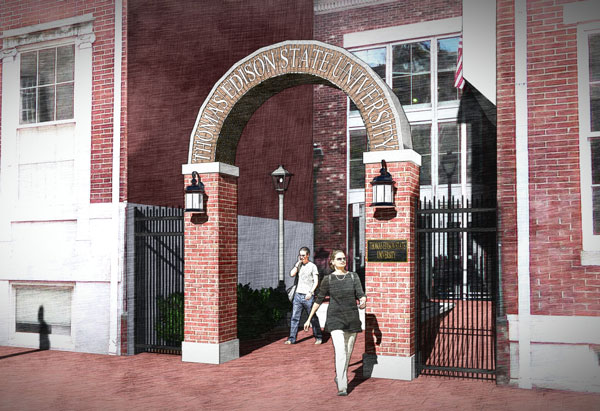 University Arch Rendering