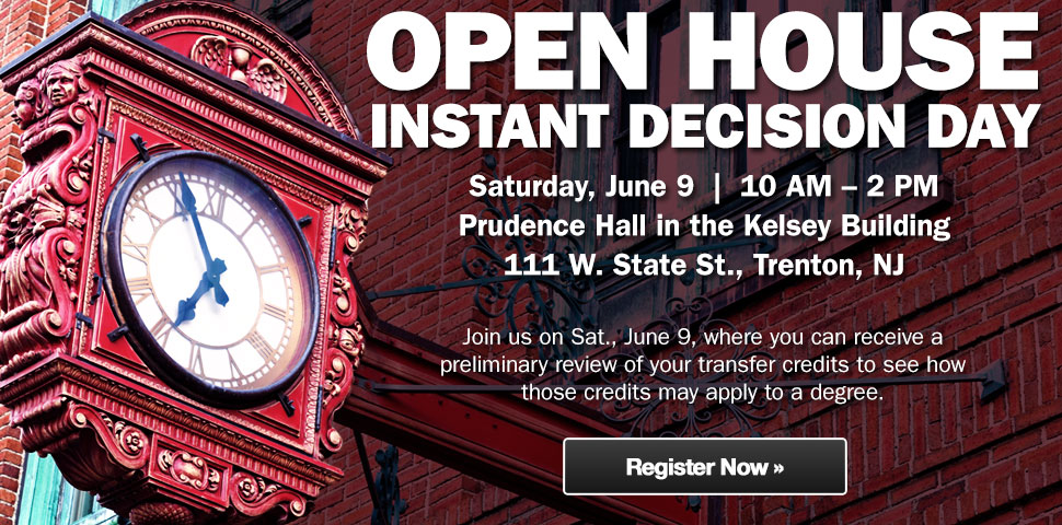 Attend our open house on June 9.