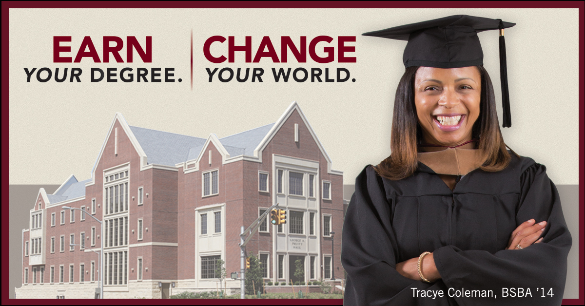 Earn Your Degree. Change Your World.