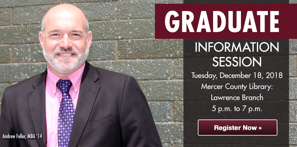 Attend our Graduate Information Session at Mercer County Library - Lawrence Branch on Dec. 18