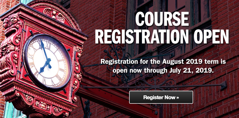 Register Now for the August 2019 Term