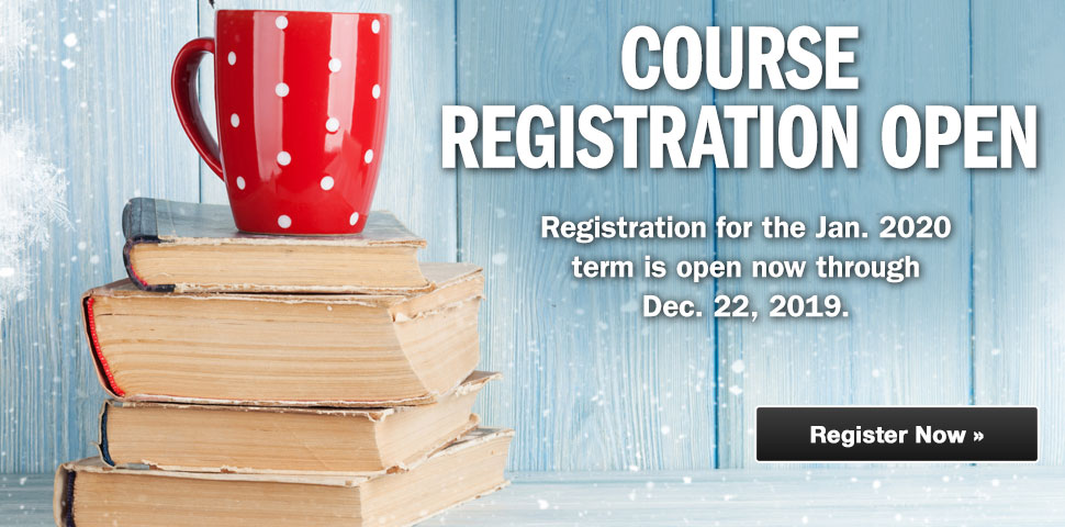 Register Now for the January 2020 Term