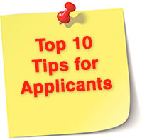 Top 10 Tips for Applicants