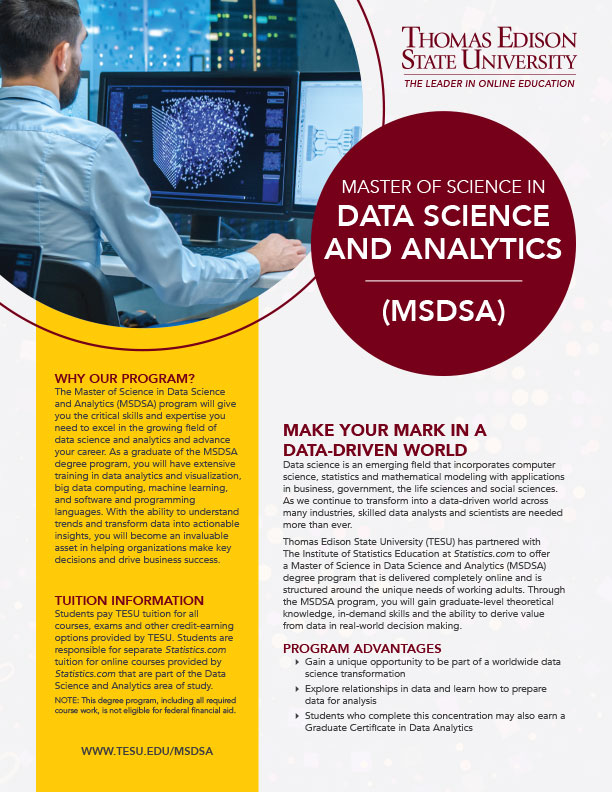 MS in Data Science and Analytics