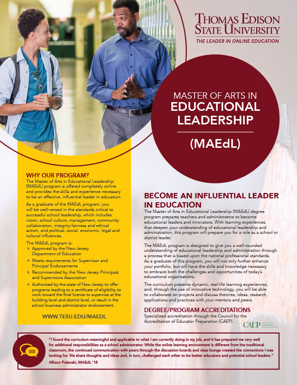 MA in Education Leadership