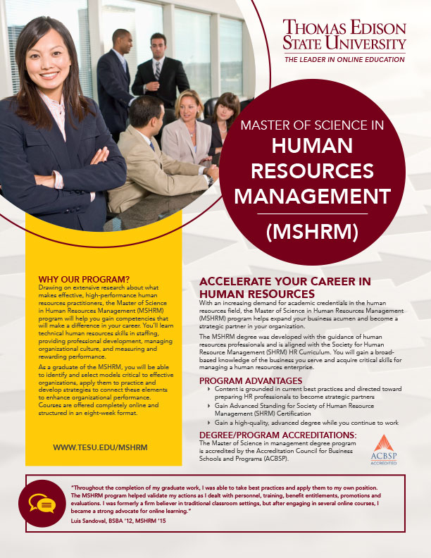 MS in Human Resource Management