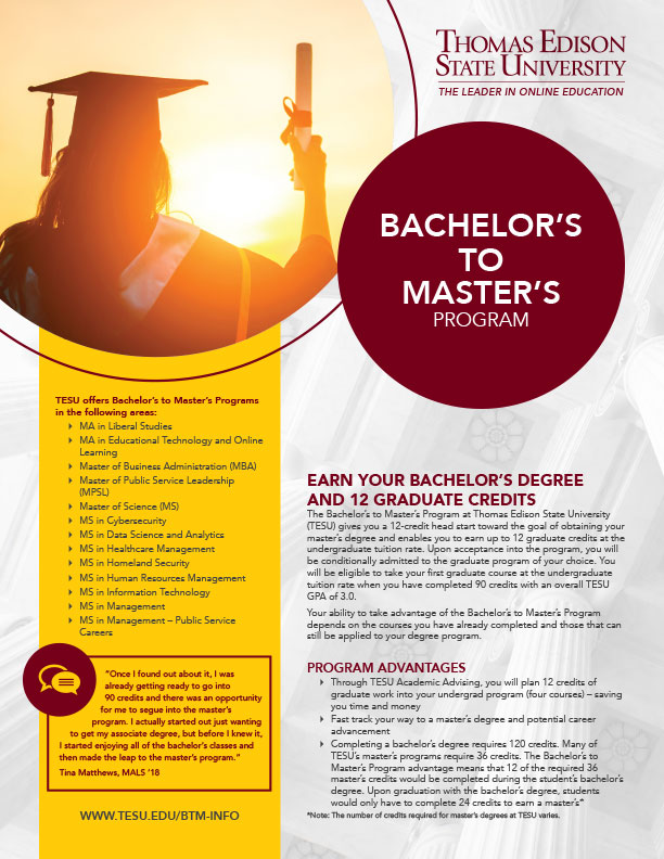 Bachelor's to Master's Program
