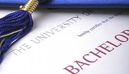 I have a bachelor's degree