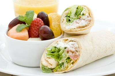 Fruit and Chicken roll up