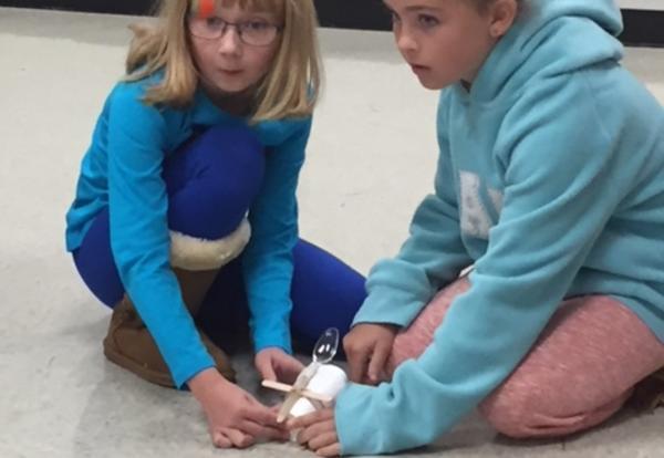 Central School 4th Grade Builds Pumpkin Launchers