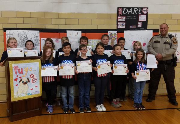 Neponset 4th Grade Students Graduate D.A.R.E. Program