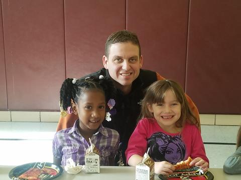 Mr. Stabler with two Belle female students