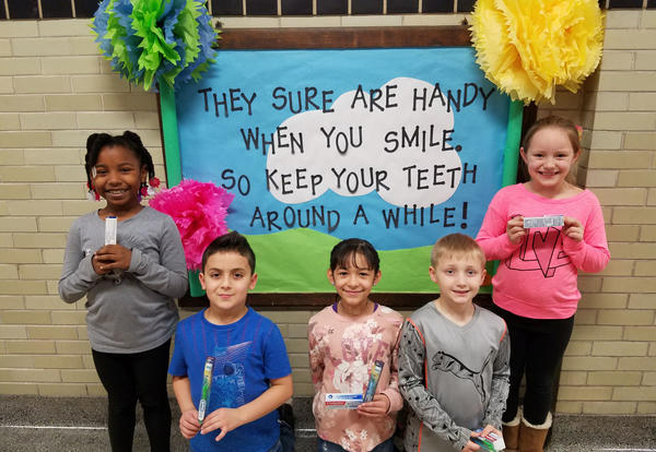 Irving Students Celebrate Dental Health Month