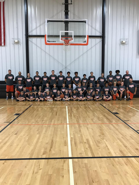 3rd, 4th & 5th grade basketball players