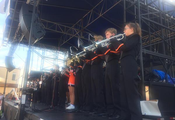 KHS Band performs at Hog Days