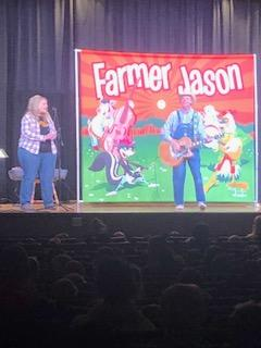 Farmer Jason on stage