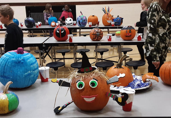 "Pumpkins made for ""Pumpkin Palooza"" at Irving"