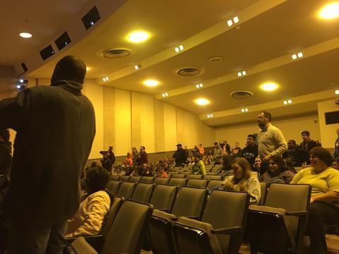 Reggie Dabbs and Peterson Auditorium Audience
