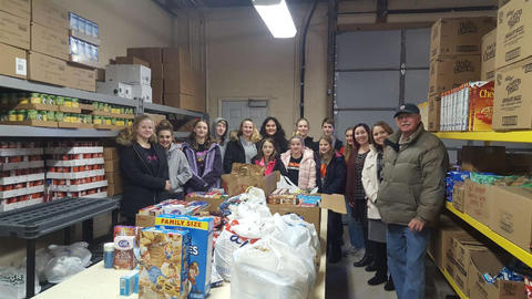 Neponset Students Donate Baking Items to Food Pantry