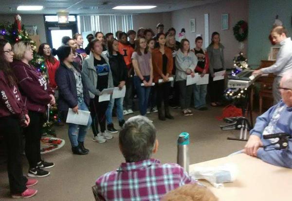 KHS Choir singing at Nursing Home