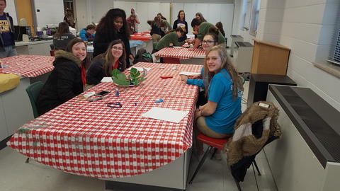 FCCLA Members sitting at table