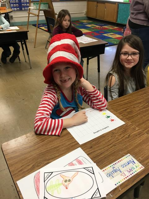 """Belle Student with """"Cat in the Hat"""" hat on"""