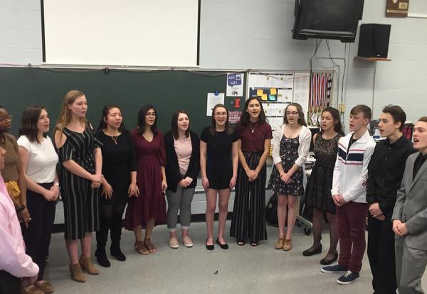 KHS vocal Jazz Enesemble students