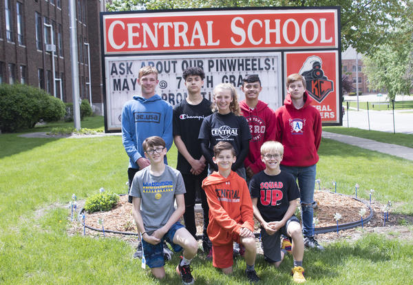 Eight Central Junior High Students who qualified for State Track