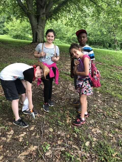 Four Irving students pictured hiking