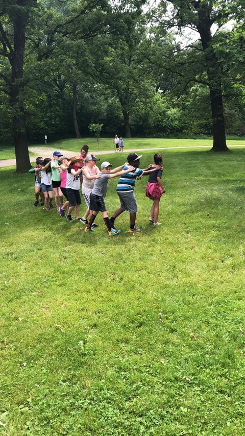 Group of Irving students playing at Johnson's Park
