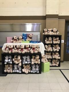 Photo of shelves full of stuffed animals