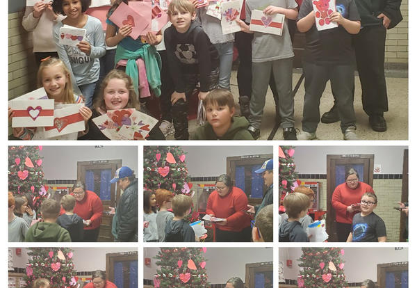 Irving Students make Valentines for Vets