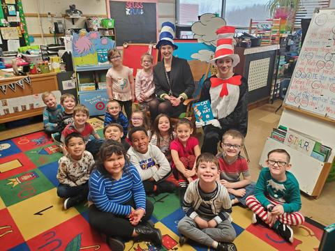 "Belle Class room with ""Cat in the Hat"" visit"