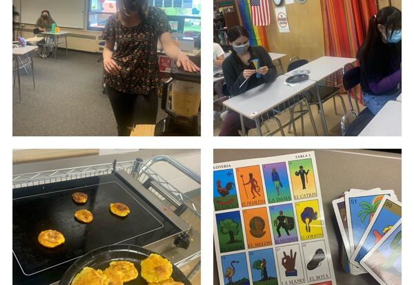 Photos of KHS Students in Spanish Class