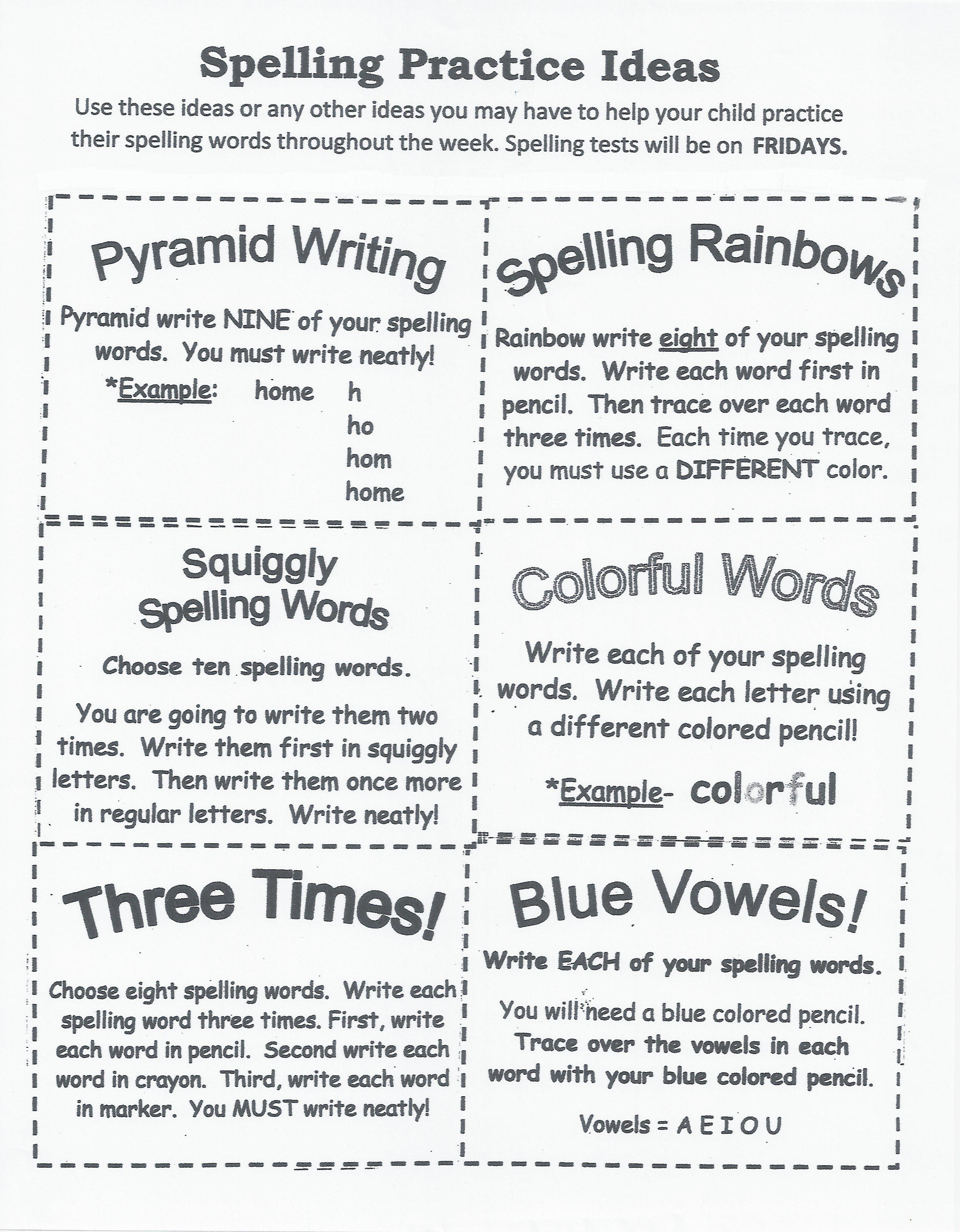 Spelling Lists   Julie Daniel